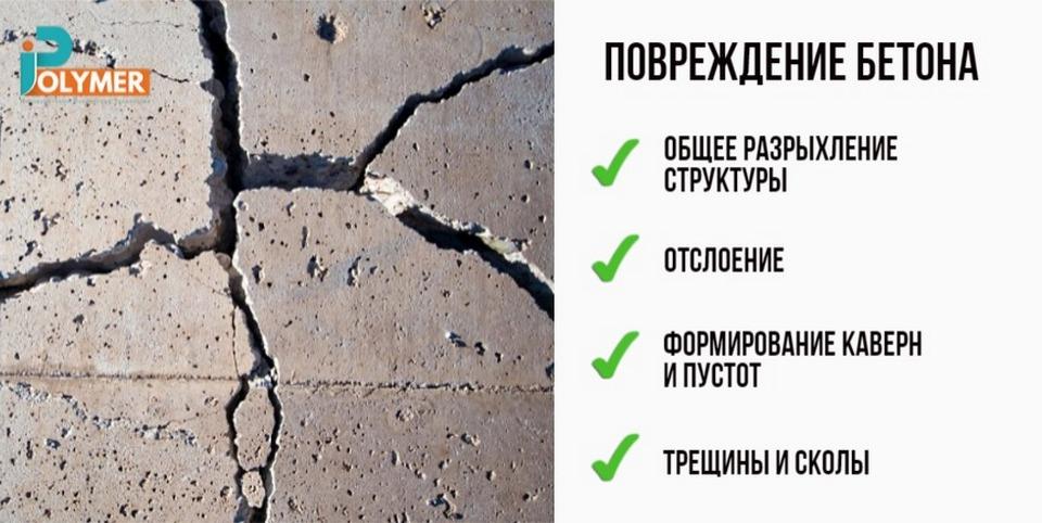Возможные дефекты бетона